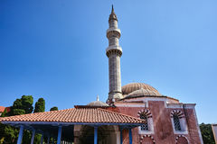 Turkish mosque with minaret Royalty Free Stock Photos