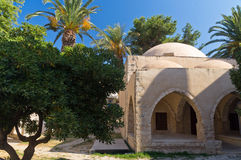Turkish mosque in Rhetymno, island of Crete Royalty Free Stock Photo