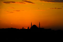 Turkish mosque silhouette Stock Photo
