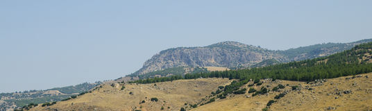 Turkish mountains and green forest panorama Royalty Free Stock Photo