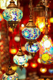 Turkish multicolor lamps Royalty Free Stock Images