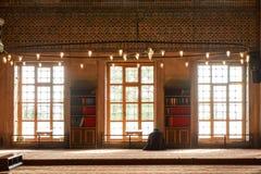 Turkish muslim men praying in suleymaniye mosque. In Istanbul,Turkey.Suleymaniye mosque Stock Photos