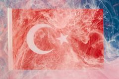 Turkish National Flag royalty free illustration