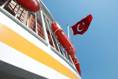 Turkish national flag Stock Photography