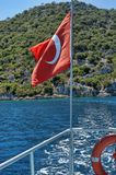 Turkish National Flag Royalty Free Stock Photography