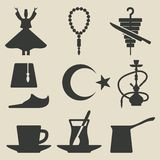 Turkish national icons set Stock Photo