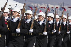 Turkish Navy soldiers walking. Stock Photography