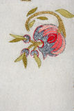 Turkish needlework on quilt Stock Photo