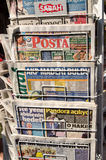 Turkish Newspapers Stock Photography