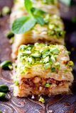 Turkish nut and phyllo pastry dessert, baklava Stock Photos