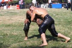 Turkish Oily Wrestling Royalty Free Stock Photo
