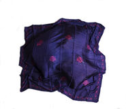 Turkish Oriental beautiful scarves with pictures of natural silk on a white background. Colorful Turkish Oriental beautiful scarves with pictures of natural silk stock image