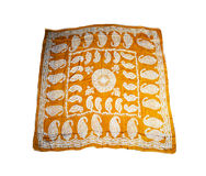 Turkish Oriental beautiful scarves with pictures of natural silk on a white background Stock Image