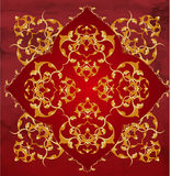Turkish Ottoman design. A traditional Ottoman Turkish design in red and gold Stock Photo