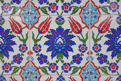 Turkish - Ottoman hand made ancient  tiles Royalty Free Stock Images