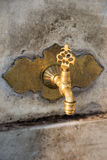 Turkish Ottoman style antique fountain water tap Royalty Free Stock Photography