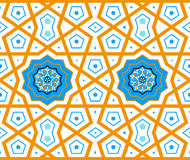 Turkish Ottoman style with blue, black, orange tiles Royalty Free Stock Image
