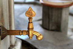 Turkish ottoman style water tap Royalty Free Stock Photography