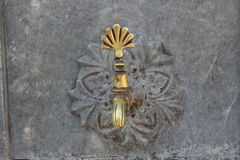 Turkish ottoman style water tap. Close up image stock photography