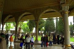 Turkish palace humans sightseeing Royalty Free Stock Photo