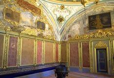 Turkish palace interior Royalty Free Stock Photo