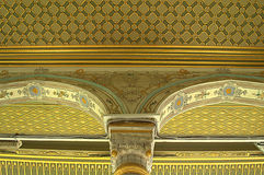 Turkish palace pattern ceiling background Royalty Free Stock Photo