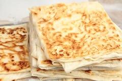 Turkish pancake. Gozleme, close up image Royalty Free Stock Photos
