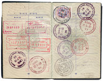 Turkish passport. Pages for visa marks Royalty Free Stock Images