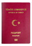 Turkish Passport Cover - Clipping Path Stock Images