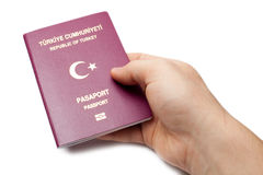 Turkish passport isolated Royalty Free Stock Photo