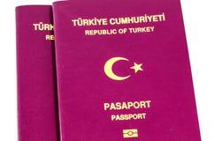 Turkish Passports on White Stock Photography