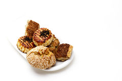 Turkish Pastry & Cookies on white background Stock Photos