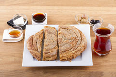 Turkish Pastry Foods on a Wooden Stock Photography