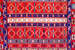 Turkish pattern rug background Royalty Free Stock Images