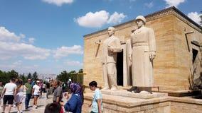 Turkish people in Anitkabir mausoleum of Ataturk, Ankara, Turkey stock footage