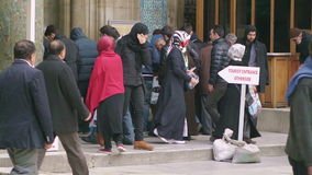 Turkish people at the entrance of the New Mosque