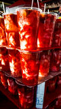 Turkish Pickles in glass ready to drink Stock Photography