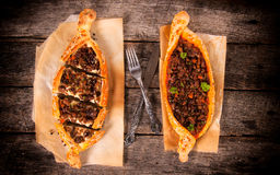Turkish pide above Stock Photography