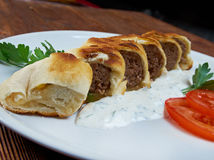 Turkish pide with beef meat Stock Photography
