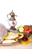 Turkish Pide in Copper Plate Royalty Free Stock Photography