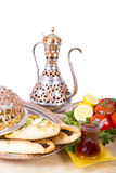 Turkish Pide with Hot Tea Royalty Free Stock Image