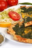 Turkish pide - spinach Royalty Free Stock Photos