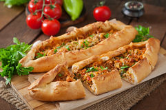Turkish pide traditional food Stock Photo