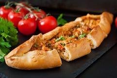 Turkish pide traditional food Stock Image