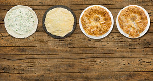 Turkish pie, Spinach and Cheese, copy space Stock Image