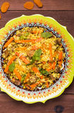 Turkish pilaf with lamb, turmeric and spices in traditional styl Stock Photo