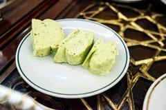 Turkish pistachio ice cream Royalty Free Stock Images