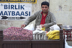 Turkish Pistacho Seller Royalty Free Stock Photos