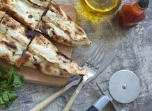 Turkish pita on table Royalty Free Stock Photo