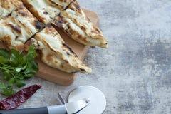 Turkish pita on table Stock Images
